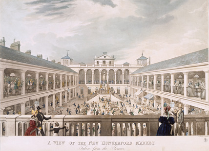 A View of the new Hungerford Market, taken from the Terrace:1834