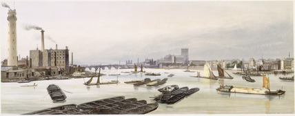 Westminster from Waterloo Bridge: 1842