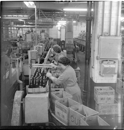 Charrington & Co employees at the Anchor Brewery, Mile End: 1965