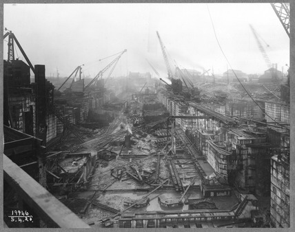 Tilbury Docks under redevelopment:1928