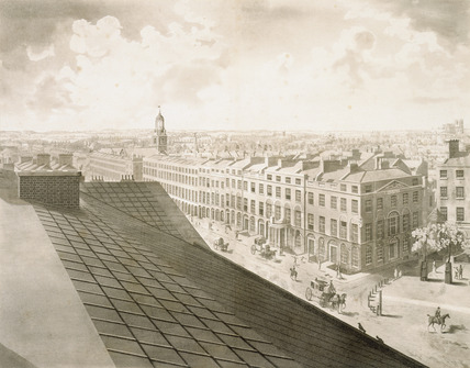 London from the Roof of Albion Mills: 18th century