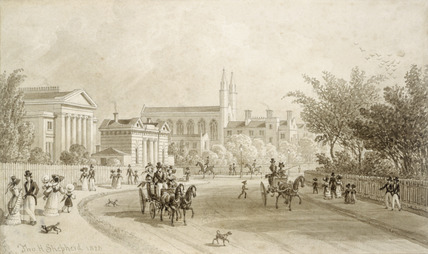 Views of Regent Street and Regent's Park: 1828