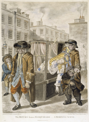 The return from a masquerade - a morning scene: 1784