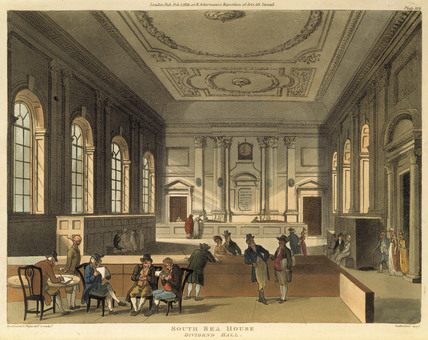 South Sea House Dividend Hall: 1810