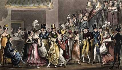 Tom and Jerry in the Saloon at Covent Garden: 1821