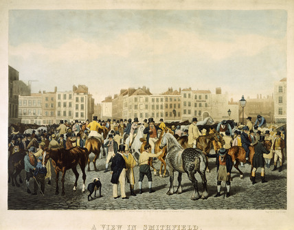 A View in Smithfield on a Friday afternoon: 19th century