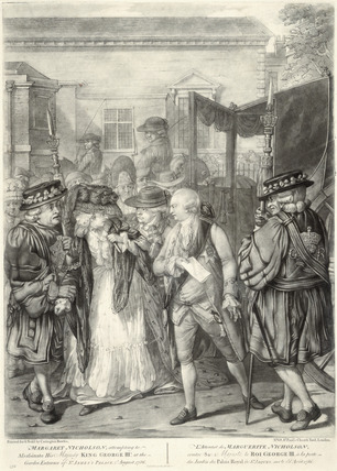 Margaret Nicholson, attempting to Assassinate His Majesty King George IIId, at the Garden Entrance of St James's Palace, 2d August, 1786