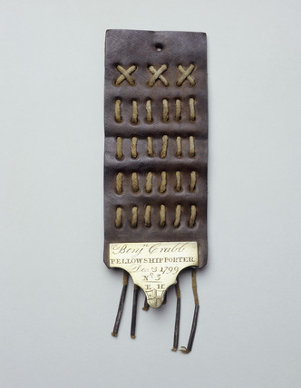 Leather porter's tally: 18th century