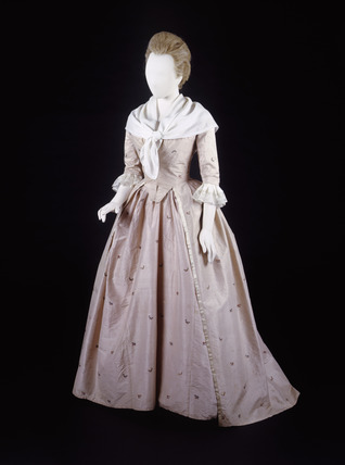 Dress ensemble, front view: 18th century