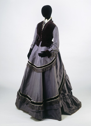 Dress ensemble, front view: 19th century
