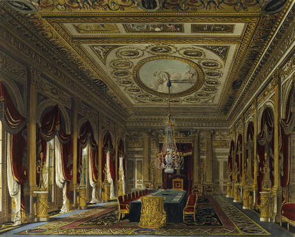 The Throne Room Carlton House 1819 By W H Pyne At