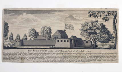 The South West Prospect of Williams Fort at Whydah 1727