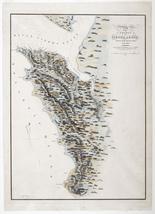 Plan of the Colony of Sierra Leone: 1825