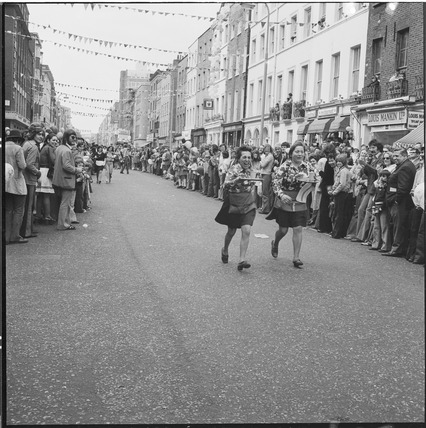 'Waitress race', Fitzrovia community festival: 1974
