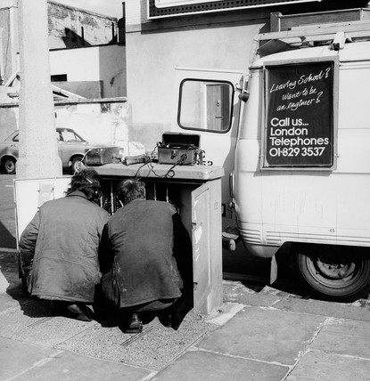 Telephone engineers at work: 20th century