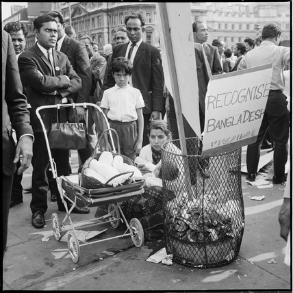 A Bangladesh independence demonstration in Trafalgar Square: 1971
