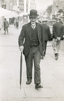 Man wearing formal business attire, Sutton High Street: 20th century