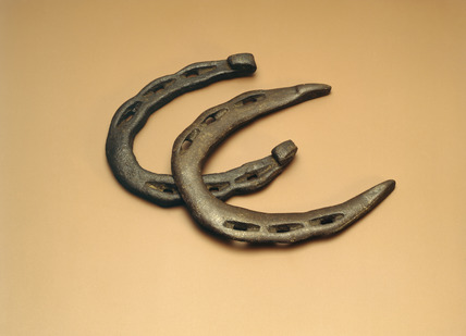 Iron horse shoes: 12th century