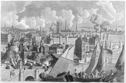 Panorama: Westminster from Millbank: 19th century