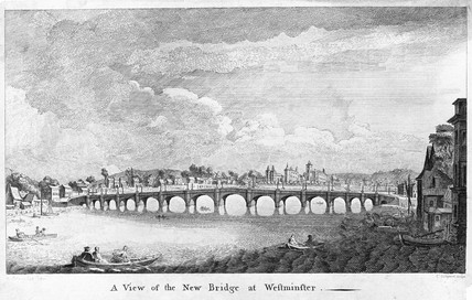 A View of the New Bridge at Westminster: 18th century