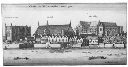 Westminster from the river: 1647