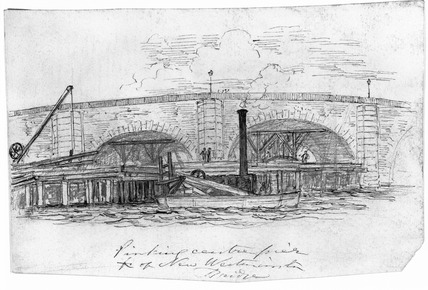New Westminster Bridge: 19th century