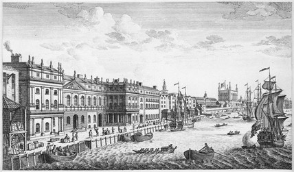 A View of the Custom House: 18th century