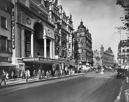 North side of Leicester Square, looking West: 20th century