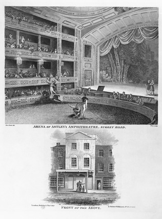Arena of Astley's Amphitheatre, Surrey Road: 1815