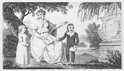 Illustration from a children's grammar book: 1803
