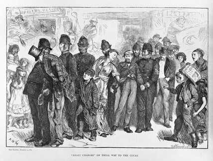 Night Charges on their way to the court: 1869