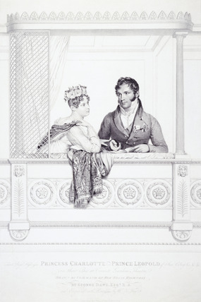 Princess Charlotte and Prince Leopold in their box at Covent Garden Theatre, 1816: 1817