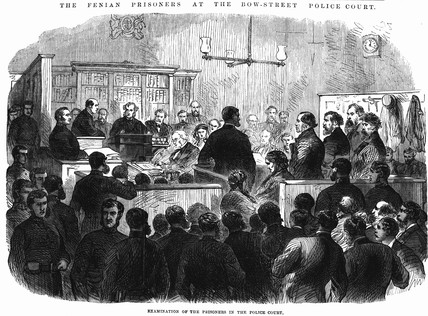 The Fenian Prisoners at the Bow Street Police Court: 1868