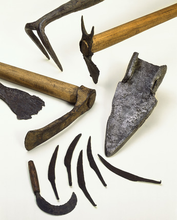 Selection of roman farm tools