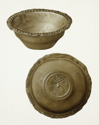 Roman pewter bowl