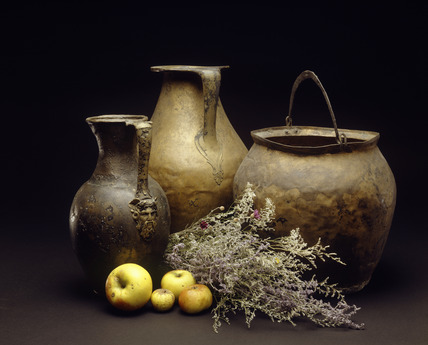 Selection of Roman copper jugs