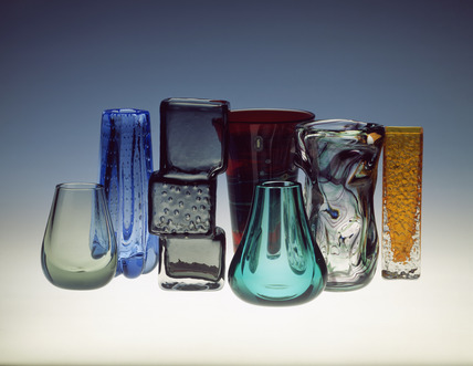 Selection of Whitefriars vases
