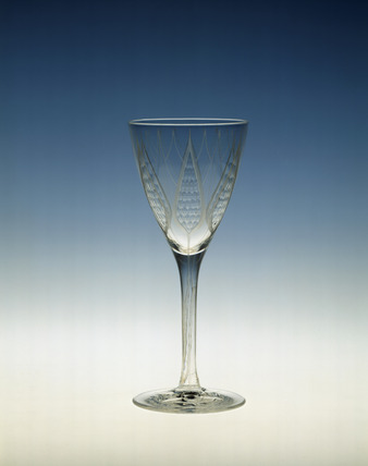 Whitefriars wine glass: 20th century