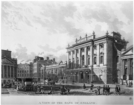 A View of the Bank of England: 1816