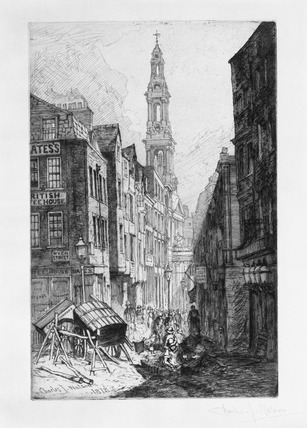 Corner of Wych Street and Drury Court: 1878