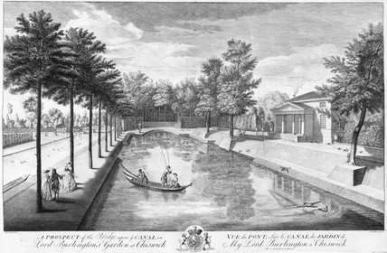 A Prospect of the Bridge upon ye Canal in Lord Burlington's Garden at Chiswick: 18th century