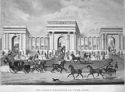 The Grand Entrance to Hyde Park: 1844