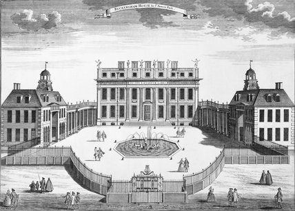 Buckingham House in St James's Park: 1730
