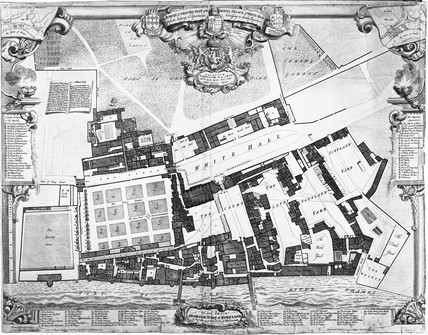 A survey of the ground plot of the Royal Palace of Whitehall: 1747