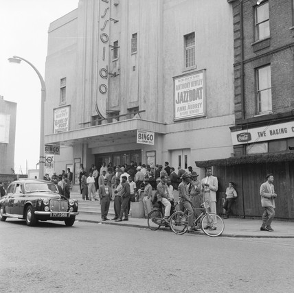 Crowds outside a Bingo Hall: 20th century