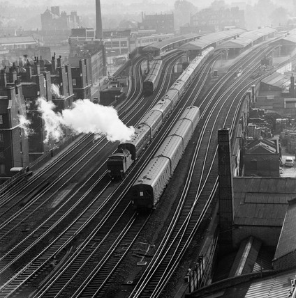 View of Vauxhall Station: 20th century