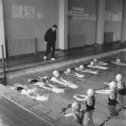 Swimming lessons, Stockwell Manor Comprehensive School: 1963