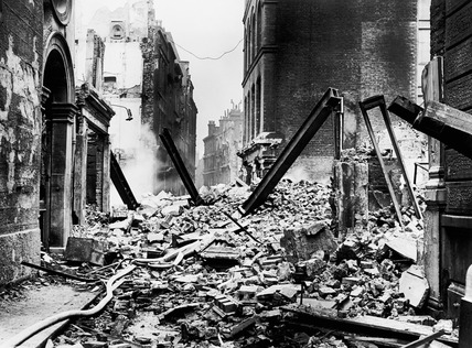 Bomb damage at The Walbrook: 1941