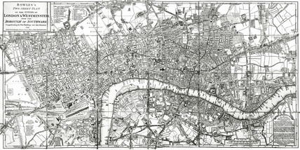 Bowles's new pocket plan of the cities of London and Westminster, with the Borough of Southwark: 1788