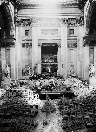 Bomb damage at St. Paul's Cathedral: 1941